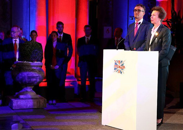 British Princess Anne and Sebastian Coe attend the Team GB British House Reception ahead of the Rio de Janeiro 2016 Summer Olympic Games on August 3, 2016 in Rio de Janeiro, Brazil