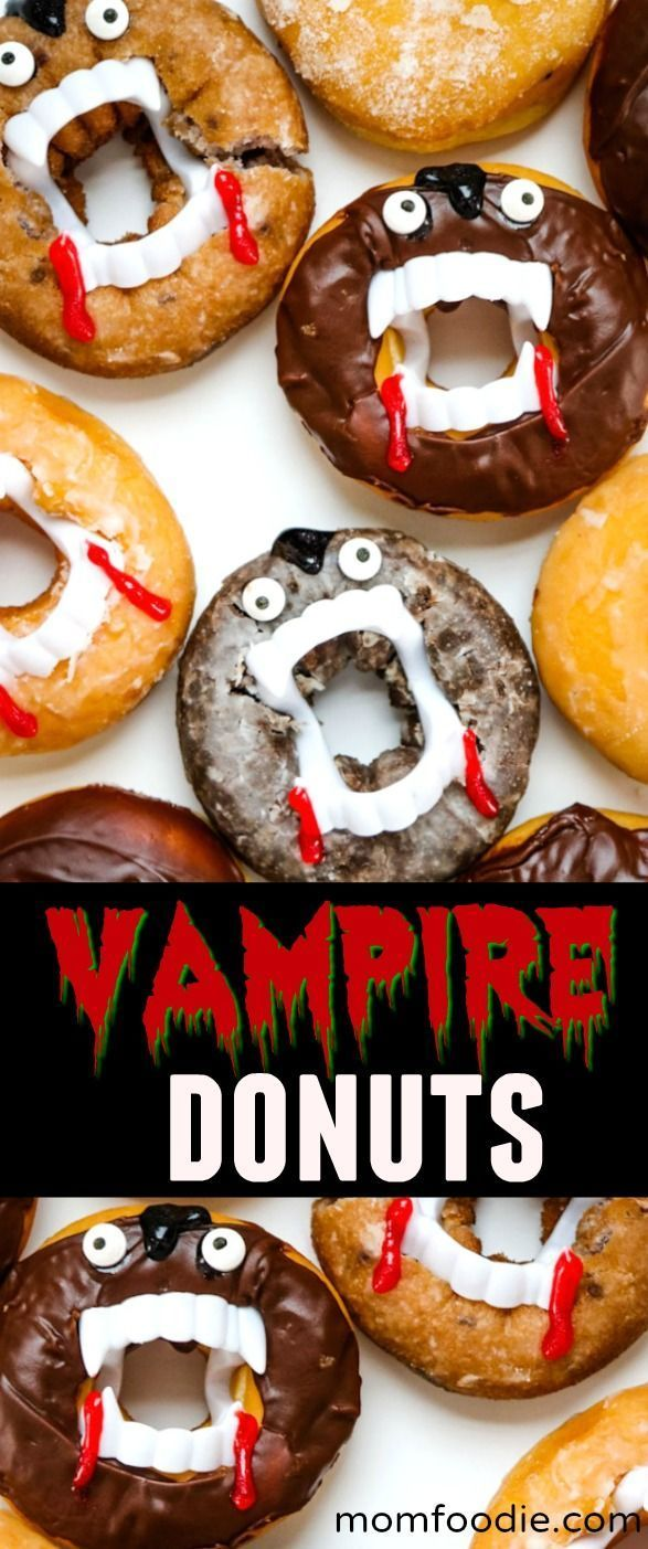 Vampire Donuts Easy Halloween Treats Halloween Food For Party