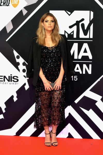 Ashley Benson attends the MTV EMA's 2015 at the Mediolanum Forum on October 25, 2015 in Milan, Italy.