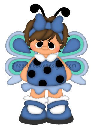 Lil Kiddles (Butterfly) - Treasure Box Designs Patterns & Cutting Files (SVG,WPC,GSD,DXF,AI,JPEG)