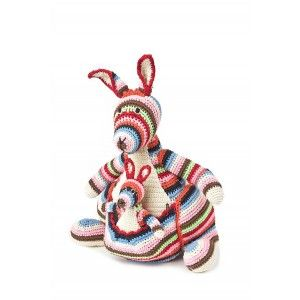 Cuddly toy KANGOUROU. Designed by Anne-Claire Petit. Available on www.darwinshome.com