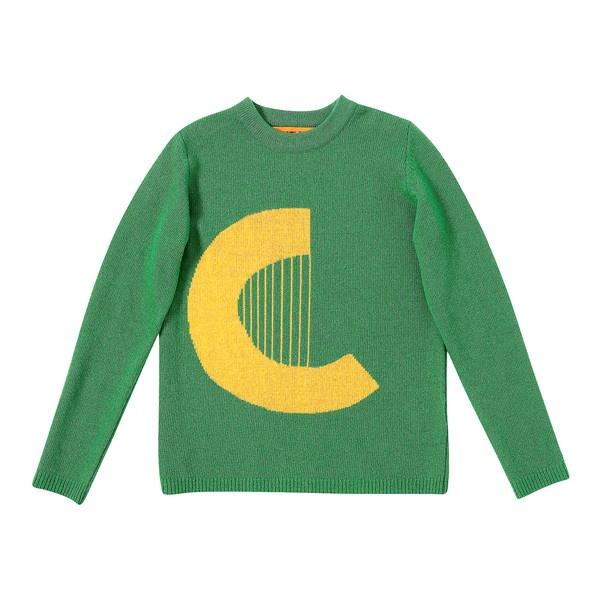 [럭키슈에뜨] Lucky Logo Sweater ❤ liked on Polyvore