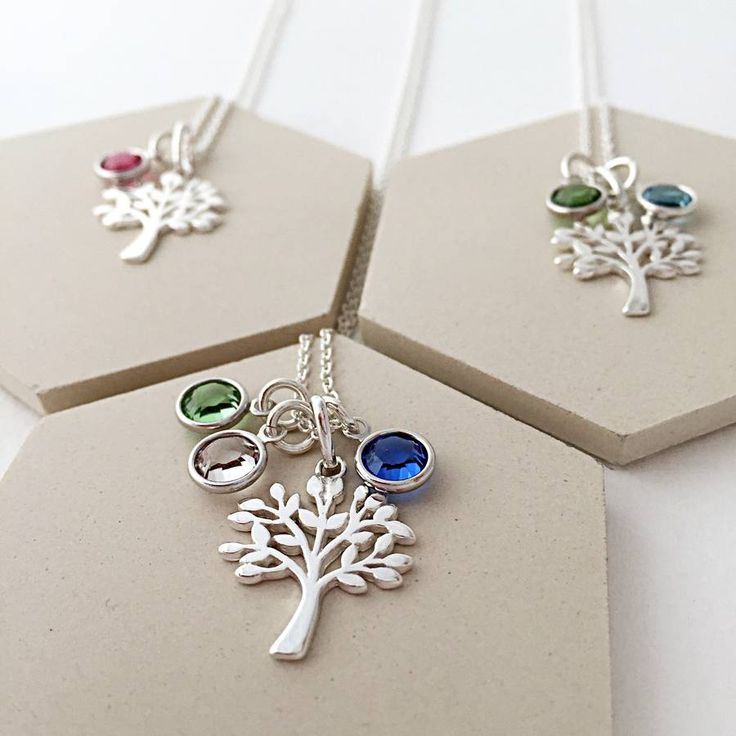 family tree with birthstones necklace by sophie jones jewellery | notonthehighstreet.com