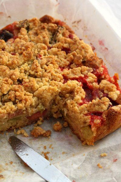 pavé de streusel fraise rhubarbe (7)