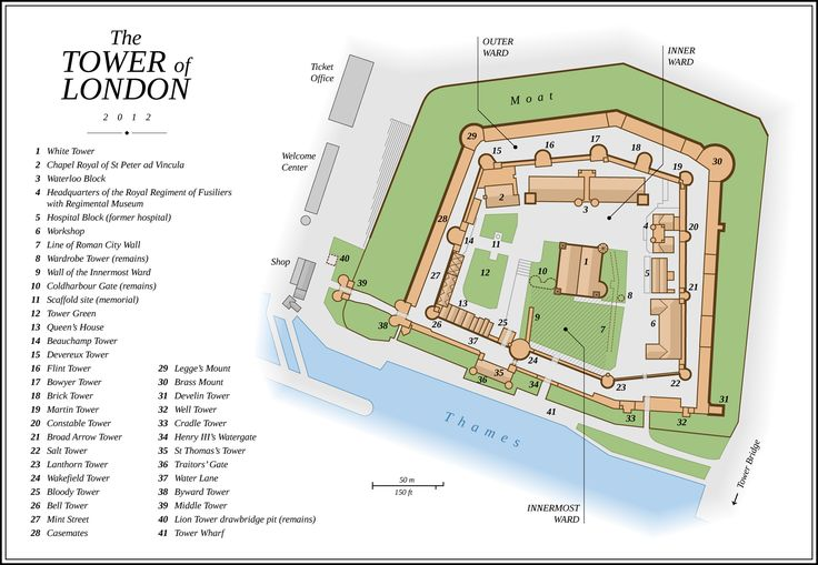 Tower of London layout
