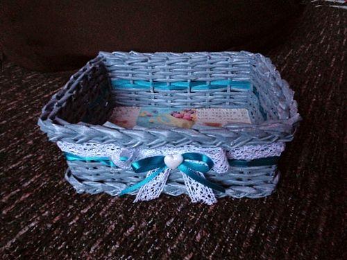 Košíček modrý