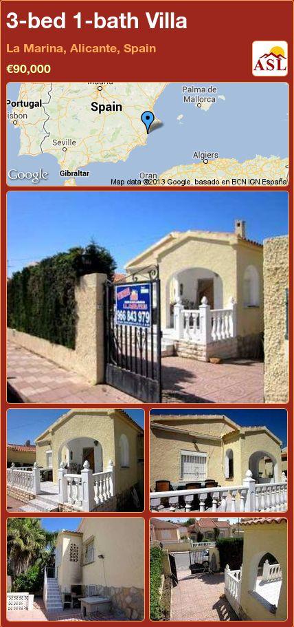 3-bed 1-bath Villa in La Marina, Alicante, Spain ►€90,000 #PropertyForSaleInSpain