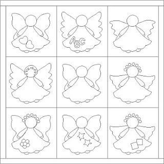 Patrones de angelitos. Angels patterns