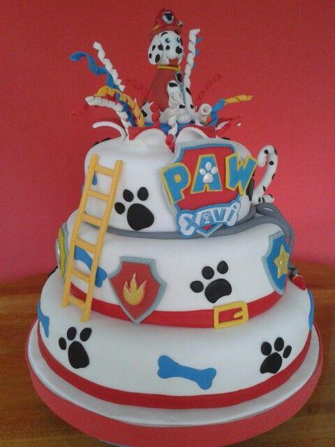 Patrulla De Cachorros Pastel De Fondan Paw Patrol Cake