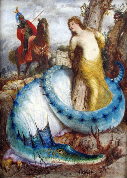 Ruggiero and Angelica - Arnold Bocklin 1873