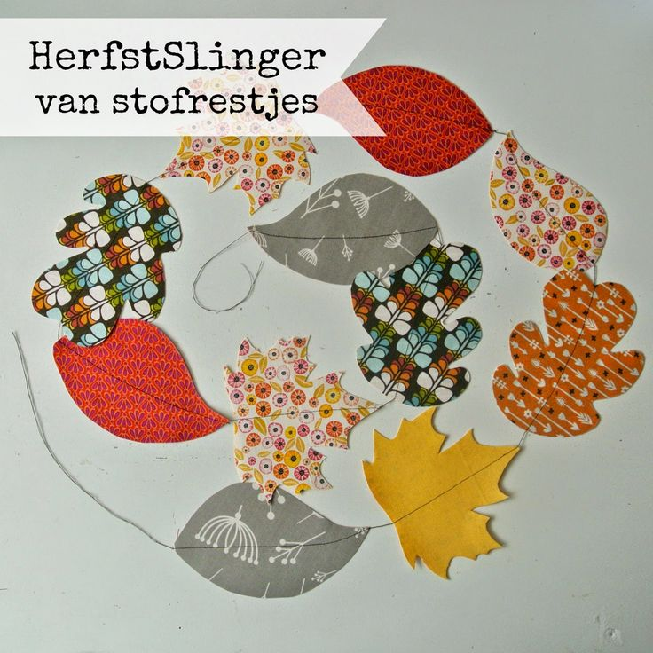 Sew Natural Blog: DIY - HerfstSlinger van Restjes Stof