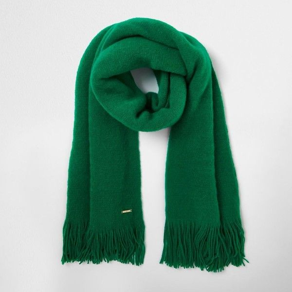 River Island Green blanket scarf ($40) ❤ liked on Polyvore featuring accessories, scarves, green, women, green shawl, blanket scarf, tassel scarves, green blanket scarf and green scarves