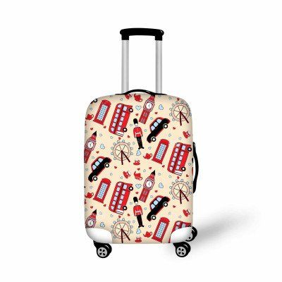 Fashion Luggage Cover UK Girl - FREE SHIPPING!