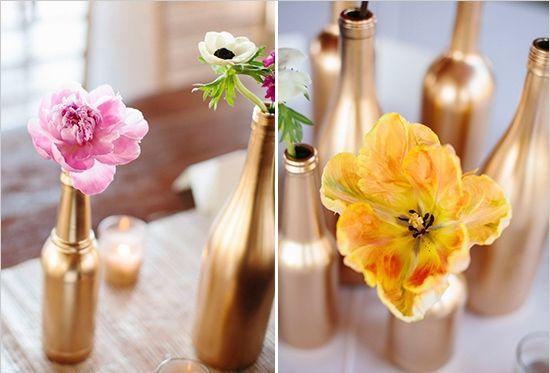 Feest tafel idee – Schilder zelf vazen en flessen