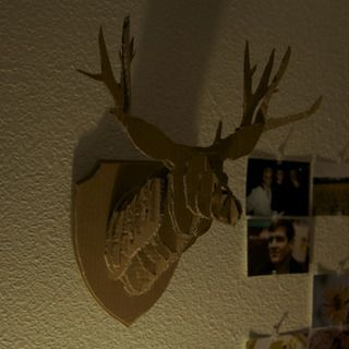 17 best images about cerf on pinterest wall mount reindeer and faux taxidermy - Cardboard deer mount ...