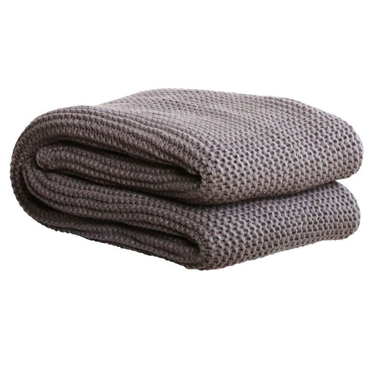 Chunky Knit Throw - Charcoal