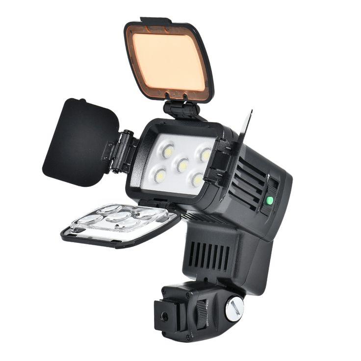 Portable On-Camera LED Video Light Kit
