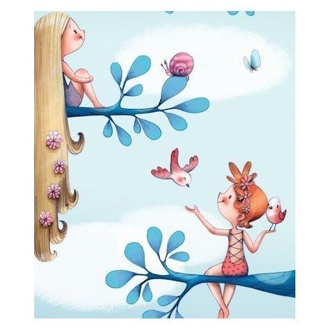 Papier peint Dans les arbres Emmanuelle Colin