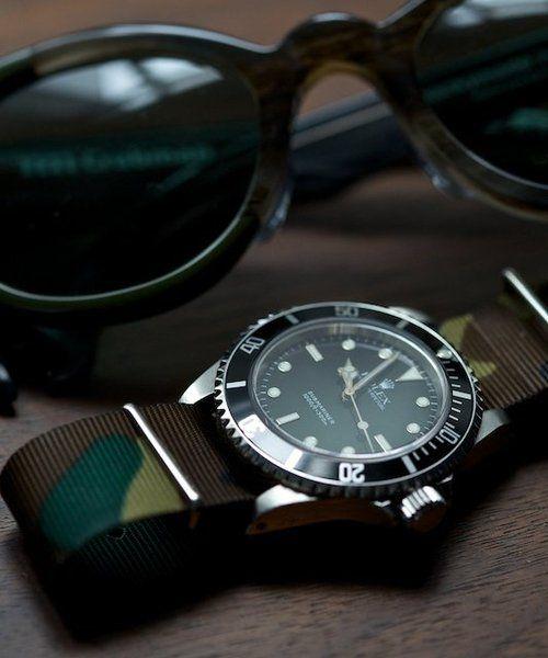 camo nylon strapCamo Watches, Rolexwatch Thewatchmen, Nato Straps, Men Fashion, Camouflage Watches, Gentleman Dreams, Camouflage Uniquerolex, Rolex Submarines, Watches Straps
