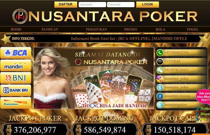 NusantaraPoker - Agen Poker, Domino QQ Online Terpercaya Uang Asli
