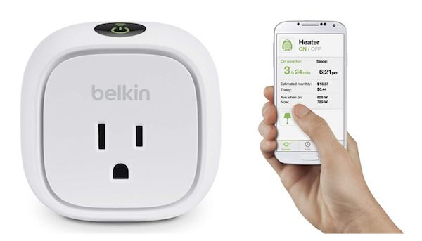 Smart fire safety products: The WeMo Insight Switch helps you monitor your appliances remotely.