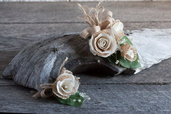 Rustic wedding boutonniere/Rustic by lechoixdelamariee on Etsy
