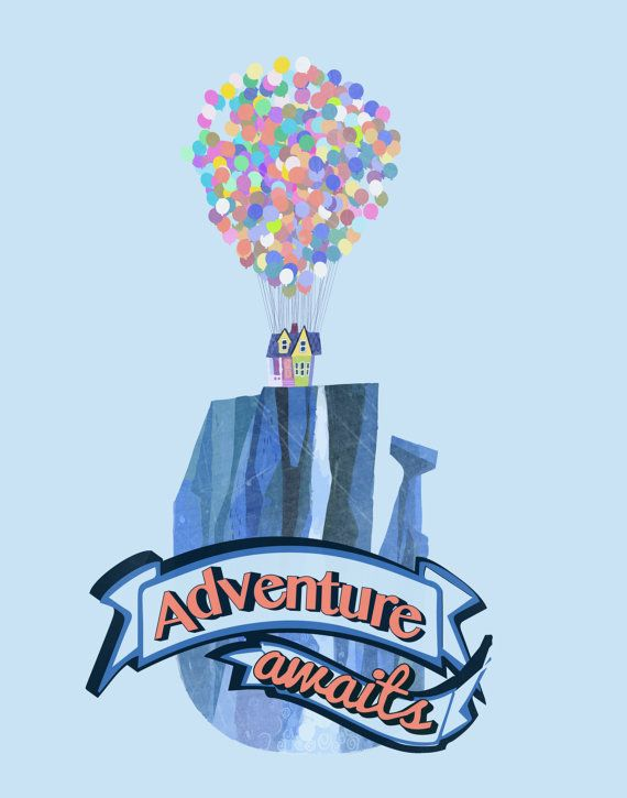 Disney Up Carl and Ellie.. Adventure by studiomarshallarts on Etsy, $5.00