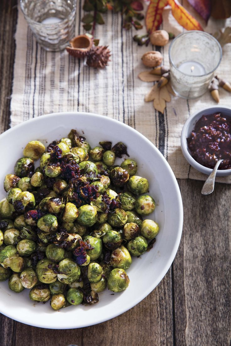 Roasted Brussels Sprouts with Bacon Jam   From the cookbook Danielle Walker's Against all Grain Celebrations, page 245   PC Erin Kunkel