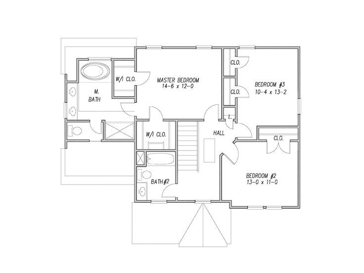 2nd Floor Plan 082h 0004 How To Plan 2nd Floor