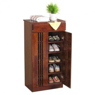 Buy Shoe Racks online : #wooden #shoe #rack #with #doorsin #NewDelhi #Noida #Panjim #Pune #Raipur #Rawatbhata