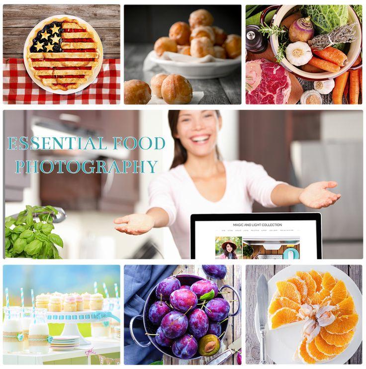 Blog or website storyboard Essential Food Photography Action Set - website storyboard
