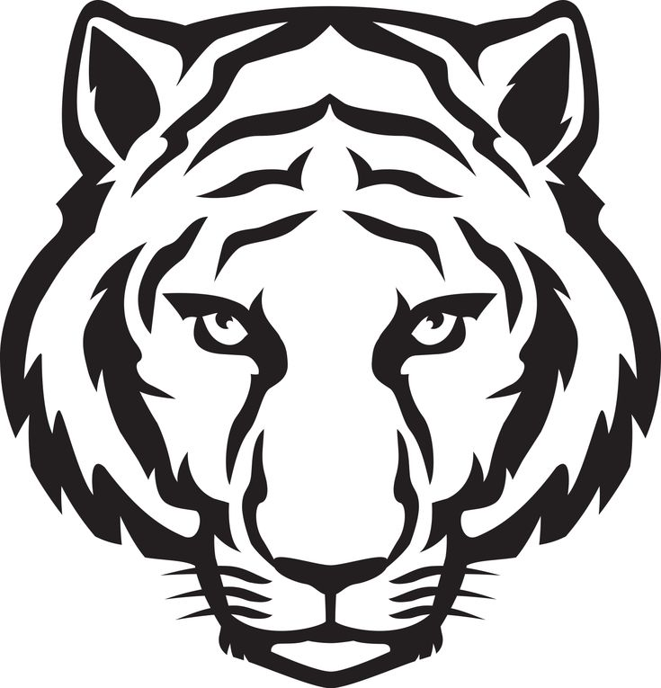 Tiger Head Outline | Tiger Eyes Black And White | Clipart Panda - Free Clipart Images