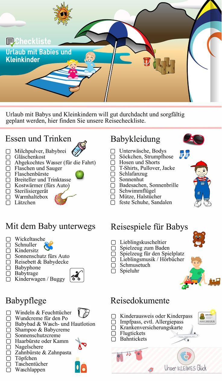Das sollten Sie beachten wenn Sie mit Babies oder Kleinkinder in den Urlaub gehen.