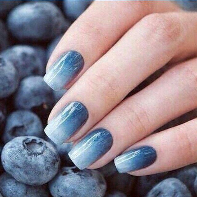 Blueberries nail art