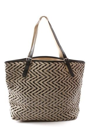 Toms Islander Black Multi Tote Bag