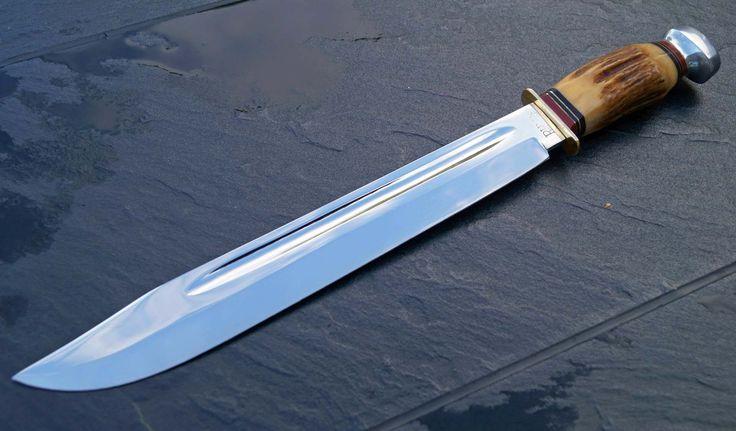 Vintage Puma 6320 Big Bowie Knife Messer Bowie Und Survival