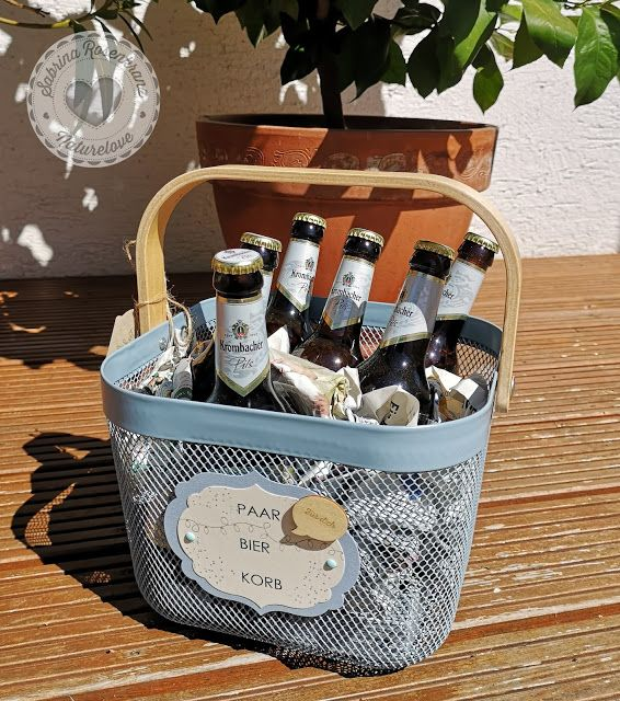 Paar Bier Korb Geschenke