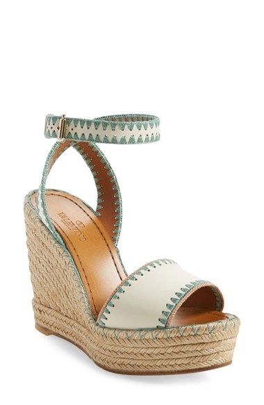 Valentino Wedge Espadrille Sandal (Women) available at #Nordstrom