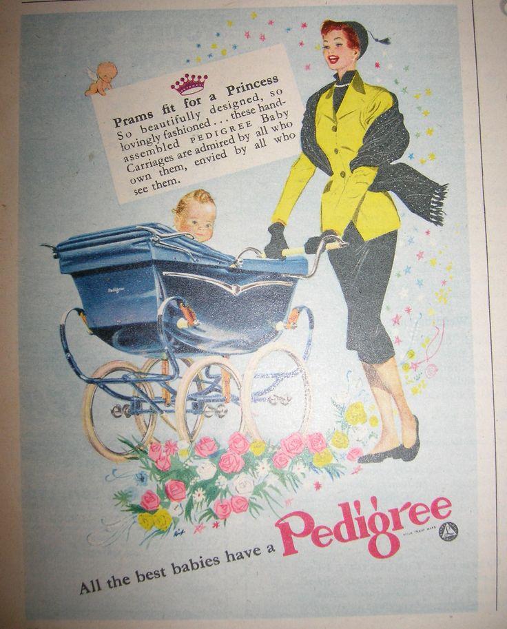 Vintage Pram Advert - Pedigree Prams  My own Sister really loves this http://www.geojono.com/