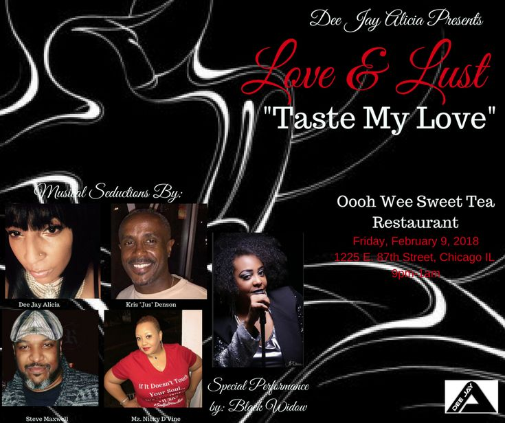 "Love and Lust: ""Taste My Love""  https://blkwidowsweb.com/upcoming-events/tastemylove"