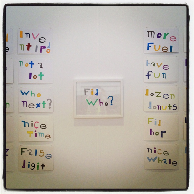 LOVE, LOVE, LOVE these Boris Cipusev text-based artworks, which are humorous and witty @ $230 framed. Visit us at the Melbourne Art Fair at the Royal Exhibition Building, Carlton 2-5 Aug 2012!