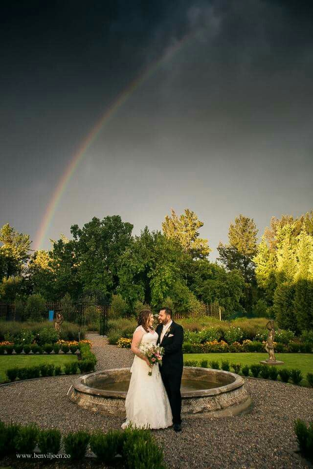 Who is so lucky to get a rainbow at their wedding :)