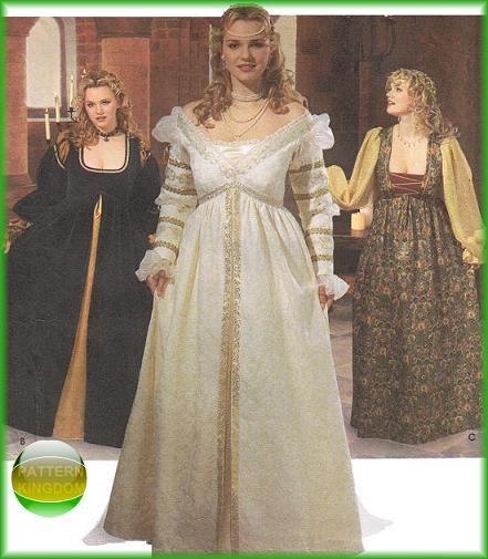 Plus Size Renaissance Wedding Dresses Naf Dresses: 105 Best Images About Renaissance Sewing Patterns On Pinterest