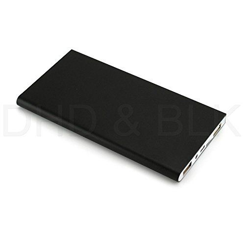 #US Stock Black Ultra Thin 20000mAh Portable External Battery Charger Power Bank for Cell Phone