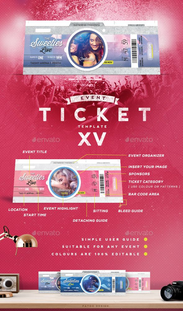 150 best images about ticket templates on pinterest party events ticket design and concerts for Concert ticket template psd