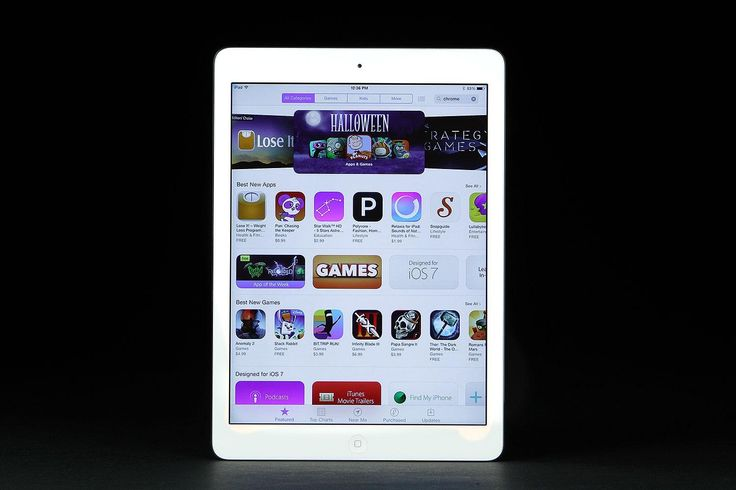 iPad air front app store