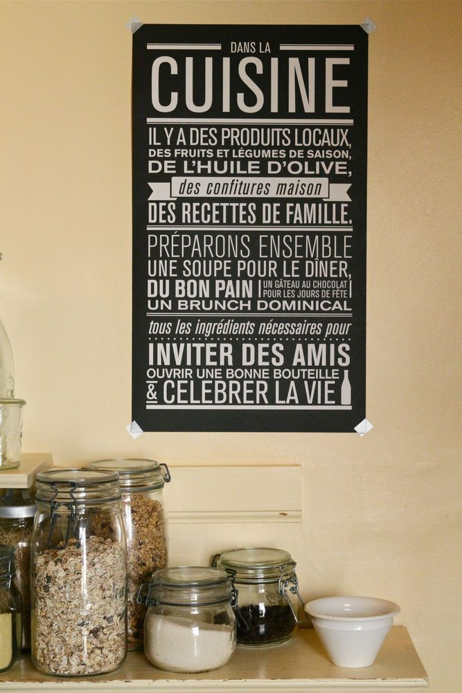 Image of affiche Dans la Cuisine / http://lacabaneaeugene.bigcartel.com/product/affiche-dans-la-cuisine