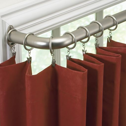... ™ Curved Curtain Rod Collection - jcpenney-- french return rod $36