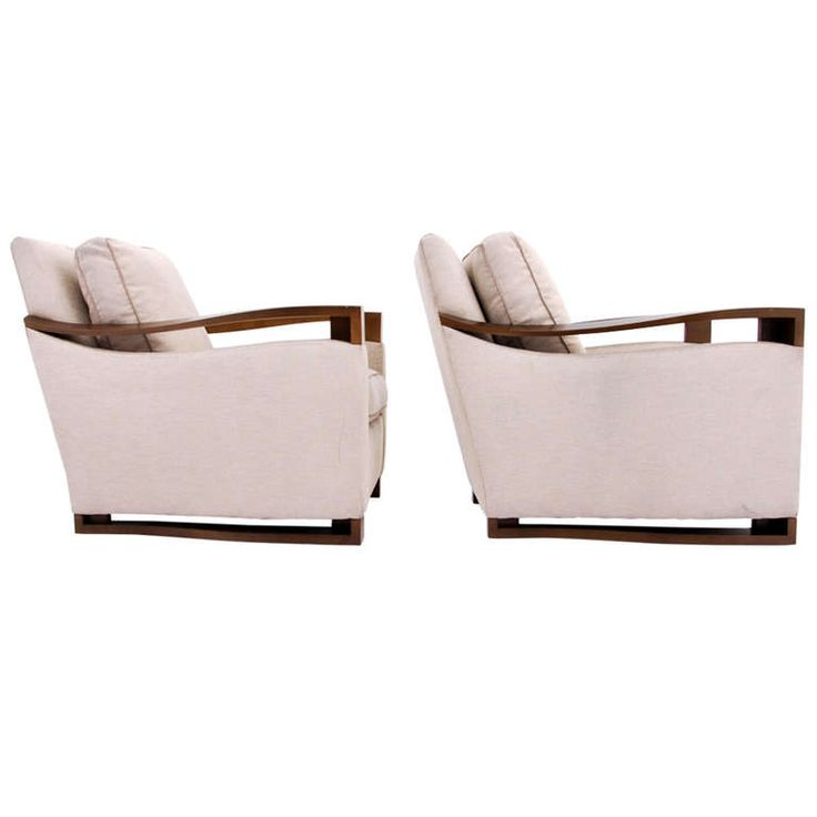 Pair Of Donghia Club Lounge Chairs Armchairs And
