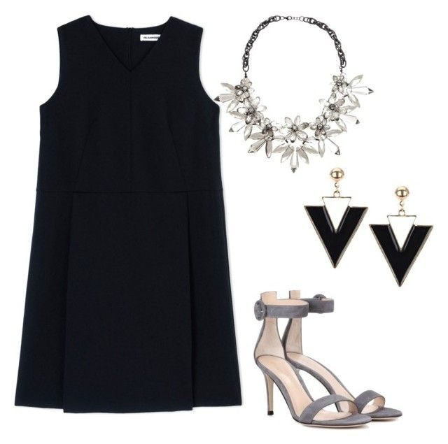"""""""Untitled #55"""" by erikaelena23 on Polyvore featuring Jil Sander, Gianvito Rossi and John Lewis"""